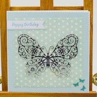 Handmade Butterfly Birthday Card