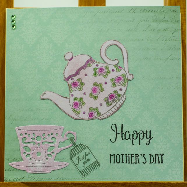 Handmade greetings card 'Happy Mother's Day'