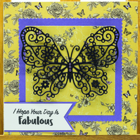 Handmade Greetings card 'I Hope Your Day is Fabulous'