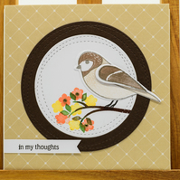 Handmade Greetings Card - 'In My Thoughts'
