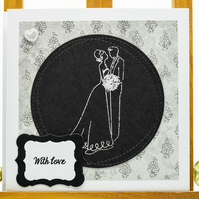 Handmade Wedding card 'With Love'