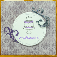 "Handmade Birthday Card ""Celebrate"""