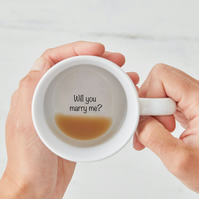 Will You Marry Me? Secret Message Proposal mug