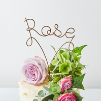 Personalised Name Handmade Wire Cake Topper