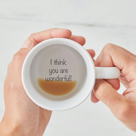 I Think You Are Wonderful! Secret Message Mug