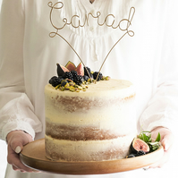Cariad Wire Wedding Cake Topper