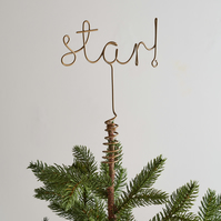 Wire Star Word Tree Topper