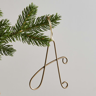 Wire Initial Tree Decoration