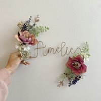 Hellebore Name Floral Sign