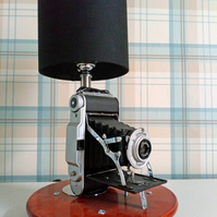 Bespoke, Re-purposed Camera Table lamp