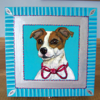 Original artwork  Jack Russell  Hand painted wooden box