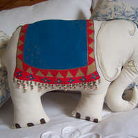 Hand Painted Elephant cushion