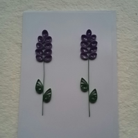 Quilled Lavender Greetings Card