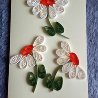 Quilled Daisy Greetings Card