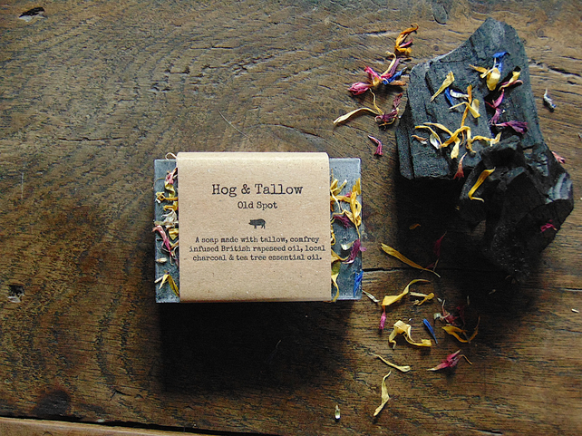 Old Spot - A handmade Soap with Devon Charcoal & Tea Tree