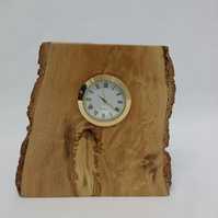 clock desk mantle log slice
