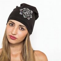 Yoga Beanie Hat Women, Yoga gift, Knit jersey hat, Girls hat, Girlfriend gift