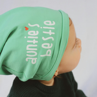 Knit jersey hat, Mint baby hat, Baby gift, Newborn gift, Kids gift, Mint hat