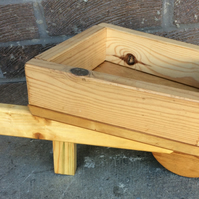 Wooden Wheel Barrow Planter