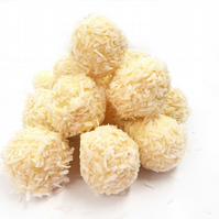 White Chocolate dipped Vanilla Fudge Truffles - Gift Box of 6