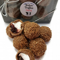 Cherry & Mallow Milk Chocolate Truffles - Gift Box of 6