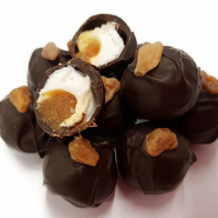 Salted Caramel & Mallow Dark Chocolate Truffles - Gift Box of 6