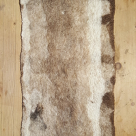 Handmade Felt sheet muti brown patterned