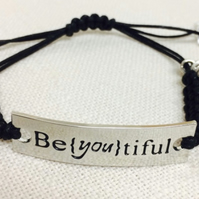 "Quotation Bracelet - "" Be(you)tiful"