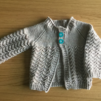 'Ripples' hand knitted cardigan