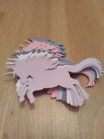 Unicorn die cuts packs of 8