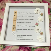 Personalised frame Mother Mum present