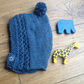 Scandi style Pixie Bonnet Blue for girl or boy size 3-6 months