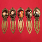 "Hobbit Lord of the Rings inspired "" Character Profiles "" Cabochon Metal Bookmark"