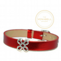 Children's, Kid's bracelet – leather with silver plated charms