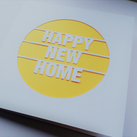 Happy New Home Papercut Greeting Card