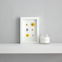Daisy picture, small wall art, small wildflower picture, buttercup picture