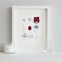Flower picture, real pressed flower picture, wall art, small picture
