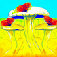 Art Card, Birthday, Get Well, Mother's Day, Greetings Cards, Fantasy, Toadstools