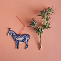 Donkey Screen Printed Decoration