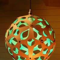 The ORB  - beautiful sphere lampshade cut from thin birch ply