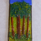 Fused Glass Woodland with Golden Sunshine