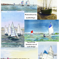Notelets - Set of 6 Notelets of Sailing