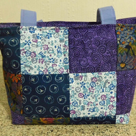 Patchwork Handbag in Fabulous Purples and Mixed Colours