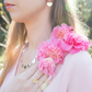 Silver Hearts Statement Necklace - Contemporary Necklace Design
