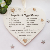 Recipe For a Happy Marriage 22cm x 22cm