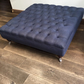 Extra Large Chesterfield Footstool -  Buttoned Coffee Table - Velvet Ottoman