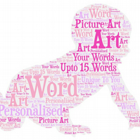 Personalised Picture Word Art baby