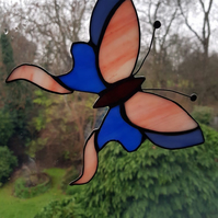 Stained Glass Swallow Tail Butterfly window hanging Sun catcher