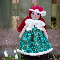 Lilly - Handmade heirloom doll, cloth doll, rag doll