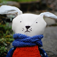 Bunny Handmade Doll, Stuffed Toy, Plush Bunny, Stuffed Animal, Cloth Doll,Bunny